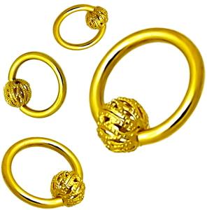 piercing echt gold