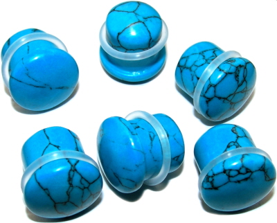 t rkis blauer stein ohr piercing expander plug 2712827. Black Bedroom Furniture Sets. Home Design Ideas